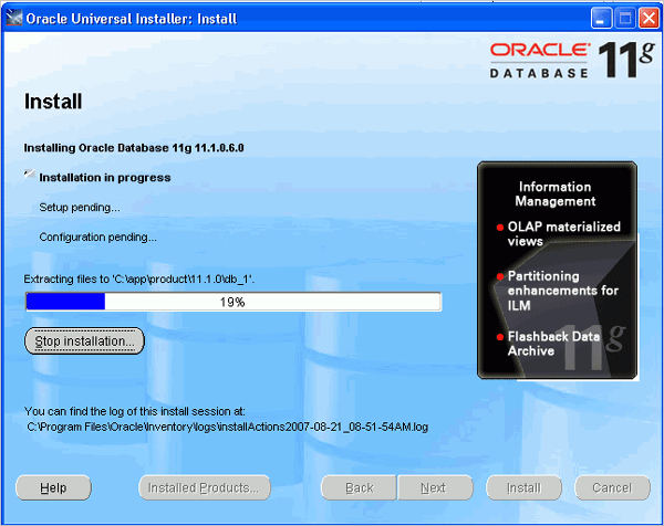 Cài đặt Oracle Database 11g trên Windows (5/6)