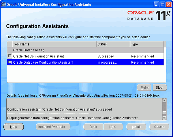 Cài đặt Oracle Database 11g trên Windows (6/6)